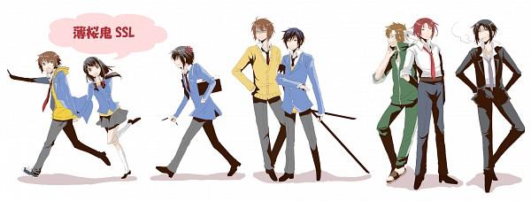 Tags: Anime, IDEA FACTORY, Hakuouki Shinsengumi Kitan, Hakuouki SSL ~Sweet School Life~, Saitou Hajime (Hakuouki), Hijikata Toshizou (Hakuouki), Nagakura Shinpachi (Hakuouki), Yukimura Chizuru, Harada Sanosuke (Hakuouki), Toudou Heisuke (Hakuouki), Okita Souji (Hakuouki), Facebook Cover, Demon Of The Fleeting Blossom