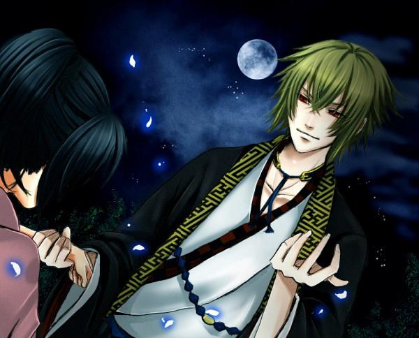 Tags: Anime, IDEA FACTORY, Hakuouki Shinsengumi Kitan, Kazama Chikage, Yukimura Chizuru, Sayagata, Demon Of The Fleeting Blossom