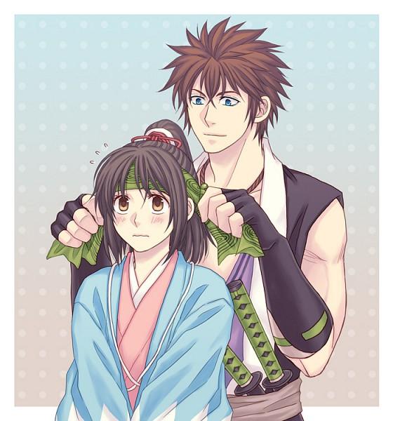 Tags: Anime, Hitomi (Pixiv648667), IDEA FACTORY, Hakuouki Shinsengumi Kitan, Nagakura Shinpachi (Hakuouki), Yukimura Chizuru, Demon Of The Fleeting Blossom