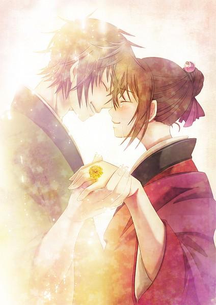 Tags: Anime, Makoto Shibaya, IDEA FACTORY, Hakuouki Shinsengumi Kitan, Yukimura Chizuru, Toudou Heisuke (Hakuouki), Dandelion, Fanart, Mobile Wallpaper, Pixiv, Demon Of The Fleeting Blossom