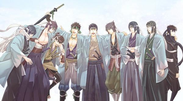 Tags: Anime, Pixiv Id 982948, IDEA FACTORY, Hakuouki Shinsengumi Kitan, Saitou Hajime (Hakuouki), Yamazaki Susumu (Hakuouki), Hijikata Toshizou (Hakuouki), Nagakura Shinpachi (Hakuouki), Harada Sanosuke (Hakuouki), Okita Souji (Hakuouki), Kondou Isami (Hakuouki), Toudou Heisuke (Hakuouki), Keisuke Sannan, Demon Of The Fleeting Blossom