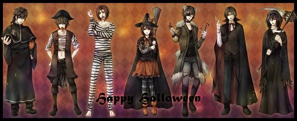 Tags: Anime, Pixiv Id 1569568, Hakuouki Shinsengumi Kitan, Saitou Hajime (Hakuouki), Hijikata Toshizou (Hakuouki), Nagakura Shinpachi (Hakuouki), Yukimura Chizuru, Harada Sanosuke (Hakuouki), Okita Souji (Hakuouki), Toudou Heisuke (Hakuouki), Brambles, Werewolf, Pixiv, Demon Of The Fleeting Blossom