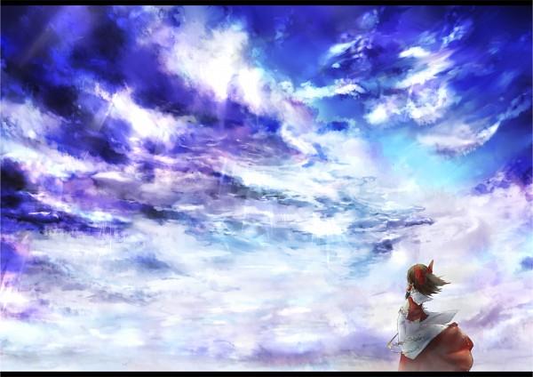 Tags: Anime, Taku-012, Touhou, Hakurei Reimu, Fanart, Pixiv, Reimu Hakurei