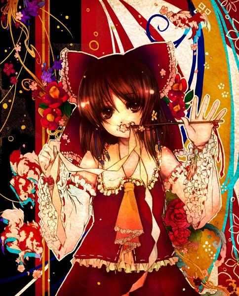 Tags: Anime, Hanada Hyou, Touhou, Hakurei Reimu, Pixiv, Fanart From Pixiv, Fanart, Reimu Hakurei