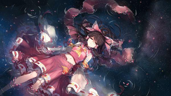 Tags: Anime, Kieta, Touhou, Hakurei Reimu, 1600x900 Wallpaper, Water Reflection, Fanart, Facebook Cover, Pixiv, Fanart From Pixiv, Wallpaper, Reimu Hakurei