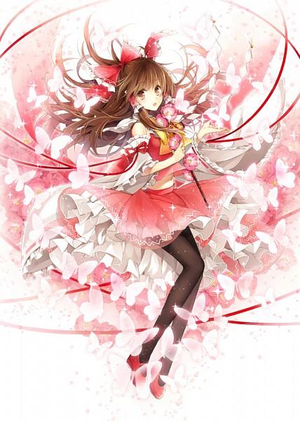 Tags: Anime, Hagiwara Rin, Touhou, Hakurei Reimu, Pixiv, Mobile Wallpaper, Fanart From Pixiv, Fanart, Reimu Hakurei