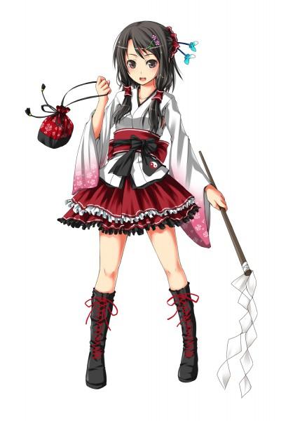 Tags: Anime, Unasaka Ryou, Touhou, Hakurei Reimu, Pixiv, Mobile Wallpaper, Reimu Hakurei
