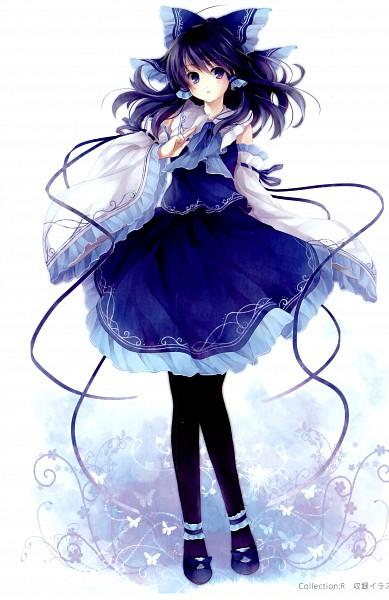 Tags: Anime, Hagiwara Rin, Gratitude, Touhou, Hakurei Reimu, Pixiv, Mobile Wallpaper, Reimu Hakurei