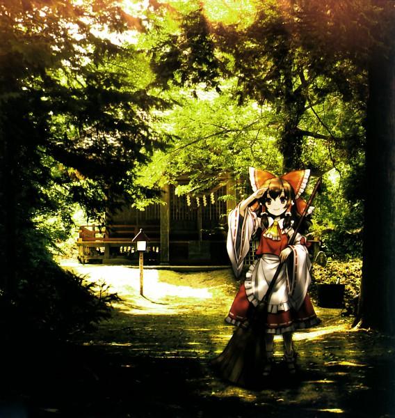 Tags: Anime, An²a, Touhou, Hakurei Reimu, Real World Background, Shrine, Remains ~ Gensou Kaikyou ~, CD (Source), Scan, Reimu Hakurei