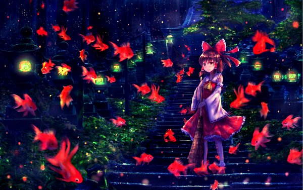 Tags: Anime, Pixiv Id 25704116, Touhou, Hakurei Reimu, Brush, Reimu Hakurei