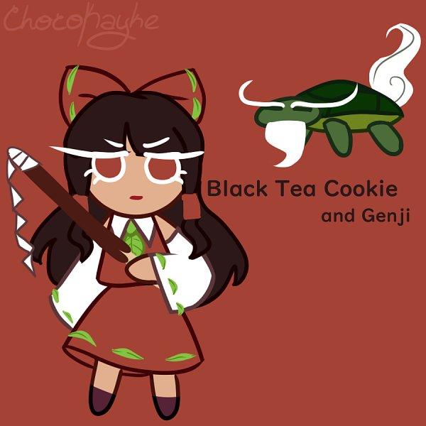 Tags: Anime, ChocoKayke, Touhou, Hakurei Reimu, Turtle, Cookie Run (Parody), Reptile, Twitter, Fanart, Reimu Hakurei
