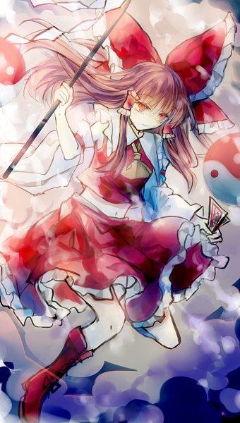 Tags: Anime, Pixiv Id 10137972, Touhou, Hakurei Reimu, Orb, Sphere, Yin Yang (Symbol), Fanart, Pixiv, Fanart From Pixiv, Reimu Hakurei