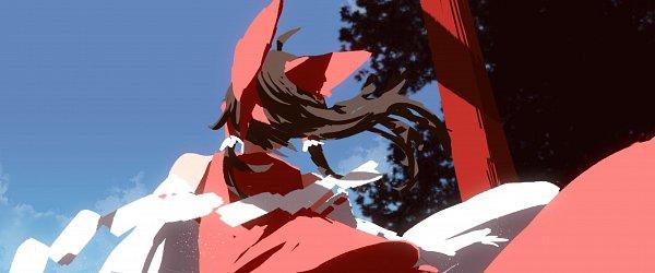 Tags: Anime, Pixiv Id 9202052, Touhou, Hakurei Reimu, Shrine, Twitter, Reimu Hakurei