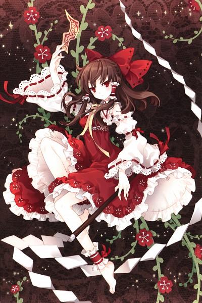 Tags: Anime, tearfish, Fuyu no Mori, Touhou, Hakurei Reimu, Scan, Mobile Wallpaper, Fanart, Reimu Hakurei