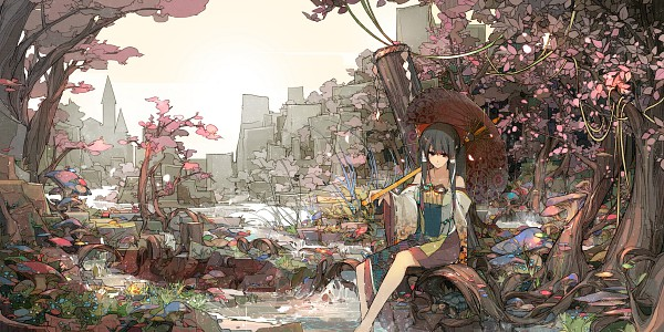 Tags: Anime, Sakura Sora, Touhou, Hakurei Reimu, Wallpaper, Facebook Cover, Reimu Hakurei