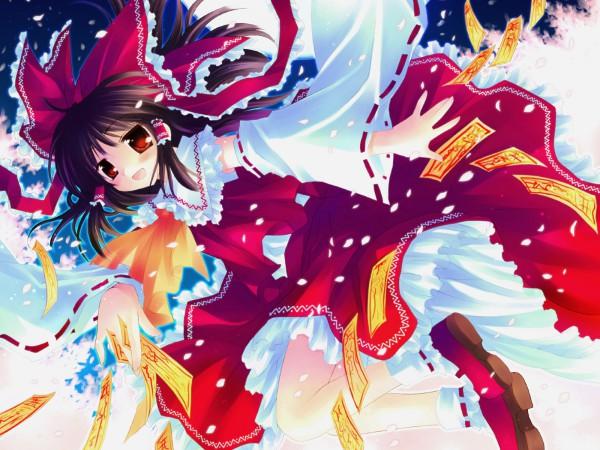 Tags: Anime, Sakurazawa Izumi, Touhou, Hakurei Reimu, Wallpaper, Reimu Hakurei