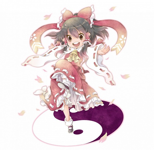 Tags: Anime, Touhou, Hakurei Reimu, Yin Yang (Symbol), PNG Conversion, Fanart, Pixiv, Reimu Hakurei