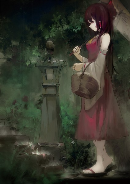 Tags: Anime, Jq, Touhou, Hakurei Reimu, Fanart, Pixiv, Mobile Wallpaper, Reimu Hakurei