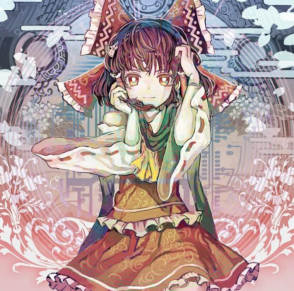 Tags: Anime, Organ Derwald, Touhou, Hakurei Reimu, Abstract Background, CD (Source), Fanart, Pixiv, Reimu Hakurei