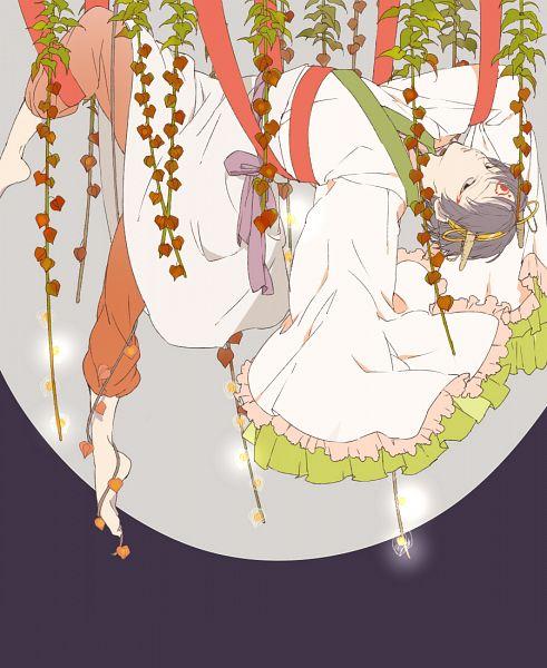 Tags: Anime, Pixiv Id 778047, Hoozuki no Reitetsu, Hakutaku (Hoozuki no Reitetsu), Chinese Lantern (flower), Hanging, Pixiv, Fanart, Fanart From Pixiv