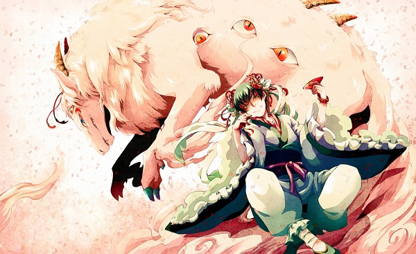 Tags: Anime, Gline, Hoozuki no Reitetsu, Hakutaku (Creature Form), Hakutaku (Hoozuki no Reitetsu), Hakutaku
