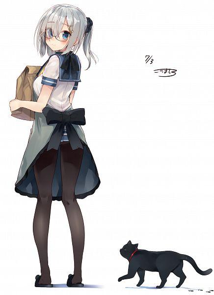 Tags: Anime, Kou Mashiro, Kantai Collection, Hamakaze (Kantai Collection), Paper Bag, PNG Conversion, Mobile Wallpaper
