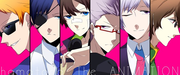 Tags: Anime, Pixiv Id 2353585, Hamatora, Art (Hamatora), Murasaki (Hamatora), Mao (Hamatora), Nice (Hamatora), Birthday (Hamatora), Ratio (Hamatora), Patch On The Nose, Facebook Cover, Fanart From Pixiv, Pixiv