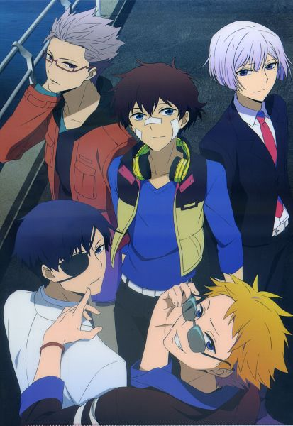 Tags: Anime, Lerche, Hamatora, Nice (Hamatora), Birthday (Hamatora), Ratio (Hamatora), Art (Hamatora), Murasaki (Hamatora), Patch On The Nose, Official Art, Mobile Wallpaper, Scan
