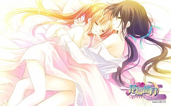 Tags: Anime, Sakurazawa Izumi, Hanafubuki ~Sennen no Koi o Shimashita~, Sakuramori Anzu, Wallpaper