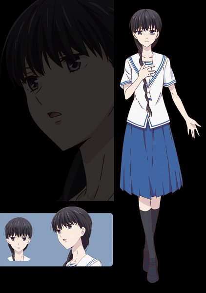Tags: Anime, Shindo Masaru, TMS Entertainment, Fruits Basket, Hanajima Saki, Character Sheet, Official Art, Edited