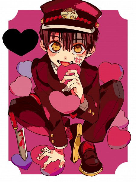 Tags: Anime, Aida Iro, Jibaku Shounen Hanako-kun, Hanako-kun, Holding Heart, Official Art