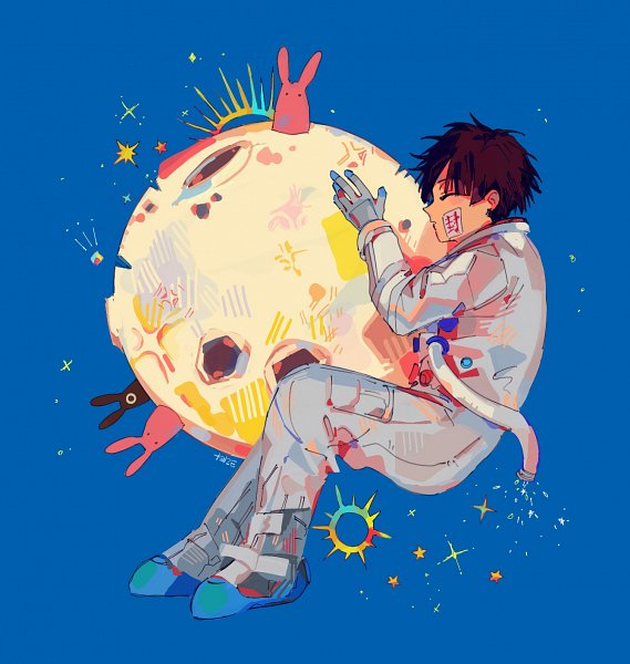 Tags: Anime, Critai, Jibaku Shounen Hanako-kun, Hanako-kun, Mokke, Space Suit, Gray Gloves, Gray Handwear, Fanart, Twitter