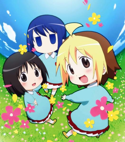 Tags: Anime, Gainax, Hanamaru Kindergarten, Koume (Hanamaru), Anzu (Hanamaru), Hiiragi (Hanamaru), Official Art