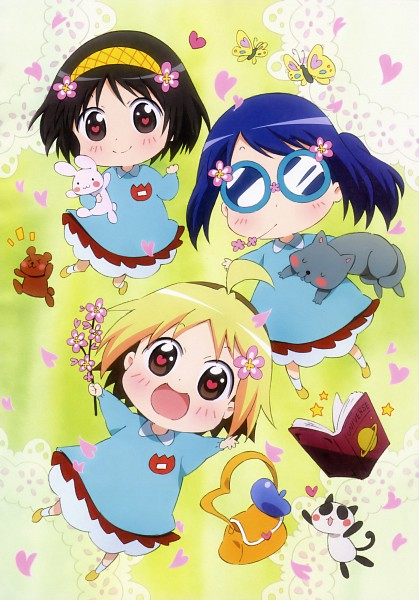 Tags: Anime, Gainax, Hanamaru Kindergarten, Anzu (Hanamaru), Hiiragi (Hanamaru), Koume (Hanamaru), Scan, Official Art