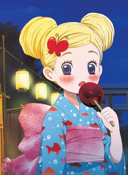 Tags: Anime, Umino Chika, Hachimitsu to Clover, Hanamoto Hagumi, Candy Apple, Festival