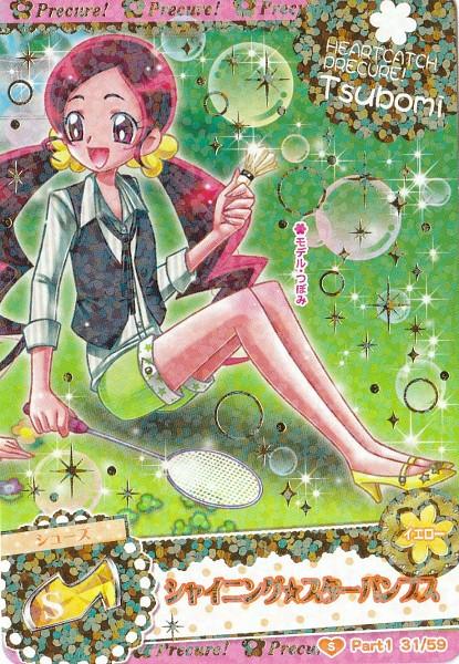Tags: Anime, Heartcatch Precure!, Precure All Stars, Data Cardass Precure All Stars, Hanasaki Tsubomi, Badminton, Card (Source), Official Art