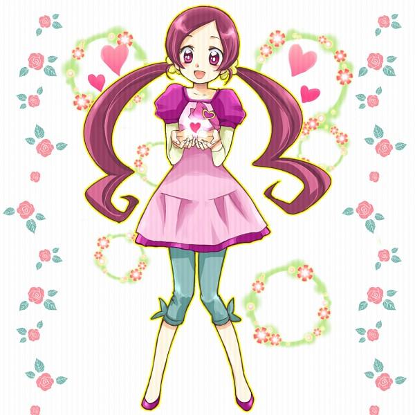 Tags: Anime, Pixiv Id 254925, Heartcatch Precure!, Hanasaki Tsubomi, Teal Pants, Leggings, Fanart, Pixiv, Fanart From Pixiv