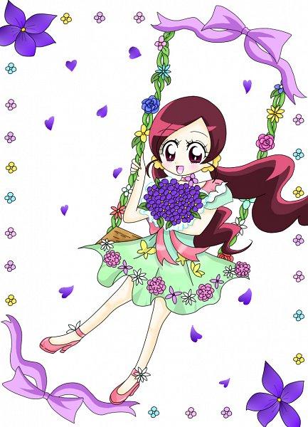 Tags: Anime, Pixiv Id 897220, Heartcatch Precure!, Hanasaki Tsubomi, Flower Dress, Swing, Fanart From Pixiv, Fanart, Pixiv