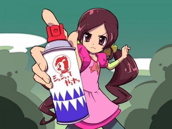 Tags: Anime, Iruka-margarine, Heartcatch Precure!, Hanasaki Tsubomi, Spray Can, Pixiv, Fanart, Fanart From Pixiv