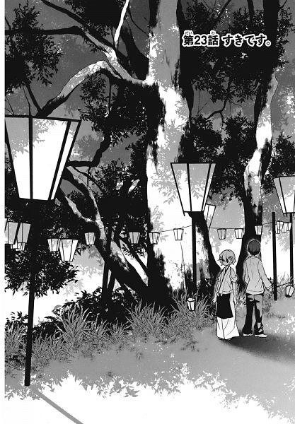 Tags: Anime, Chida Eito, Hanasaku Iroha, Matsumae Ohana, Tanemura Kouichi, Official Art, Manga Page, Chapter Cover, Scan, The Colors Of The Blooming