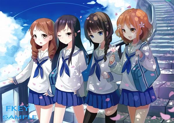 Tags: Anime, FKEY, Hanasaku Iroha, Wakura Yuina, Tsurugi Minko, Oshimizu Nako, Matsumae Ohana, Spring, The Colors Of The Blooming