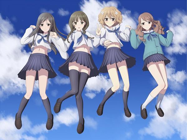Tags: Anime, Kai (Link2262), Hanasaku Iroha, Matsumae Ohana, Wakura Yuina, Tsurugi Minko, Oshimizu Nako, Pixiv, Fanart, The Colors Of The Blooming