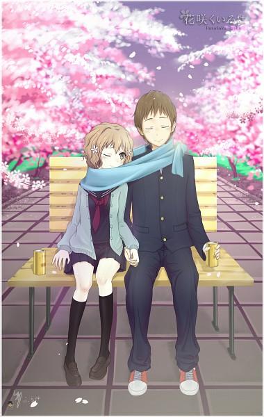 Tags: Anime, Pixiv Id 2301725, Hanasaku Iroha, Matsumae Ohana, Tanemura Kouichi, Mobile Wallpaper, The Colors Of The Blooming
