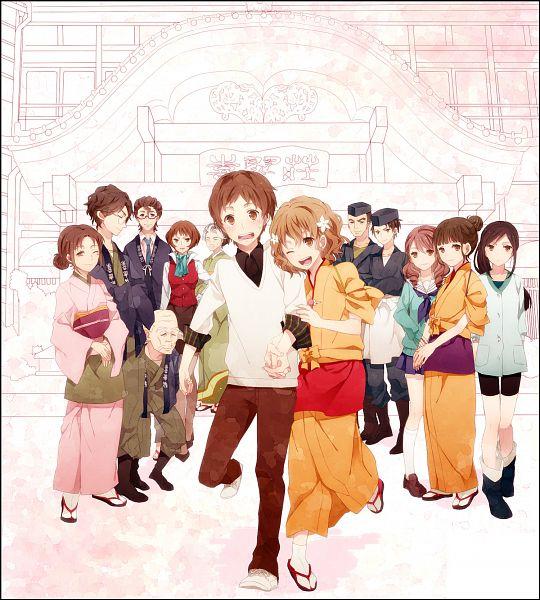 Tags: Anime, Ono (0 No), Hanasaku Iroha, Tsurugi Minko, Jiroumaru Tarou, Shijima Sui, Oshimizu Nako, Kawajiri Takako, Tanemura Kouichi, Matsumae Ohana, Togashi Renji, Wajima Tomoe, Miyagishi Tooru, The Colors Of The Blooming
