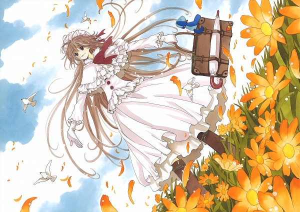 Tags: Anime, CLAMP, Kobato., Kobato. Illustration&Memories, Ioryogi, Hanato Kobato, Spiked Collar, Stuffed Dog, Scan, Official Art, Wallpaper