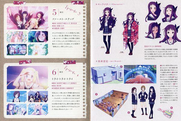Tags: Anime, Watanabe Atsuko, MADHOUSE, Hanayamata, Yamanoshita Sachiko, Kajiwara Arisa, Komachi Yuuka, Sasame Yaya, Official Art, Scan