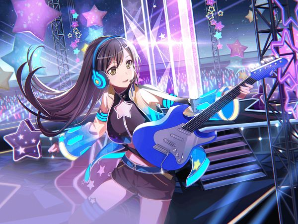 Tags: Anime, Craft Egg, BanG Dream! Girls Band Party!, Hanazono Tae, Official Art, Official Card Illustration, PNG Conversion