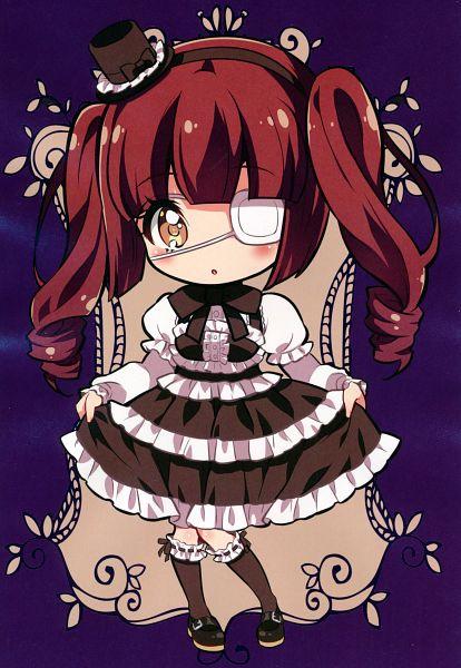 Tags: Anime, Yukiwo, Jashin-chan Dropkick, Jashin-chan Art Works, Hanazono Yurine, Official Art, Comic Market 97, Scan, Comic Market