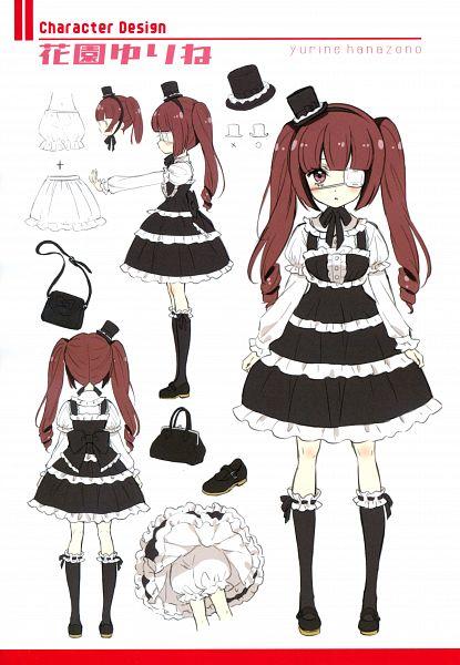 Tags: Anime, Yukiwo, Jashin-chan Dropkick, Jashin-chan Art Works, Hanazono Yurine, Comic Market, Official Art, Comic Market 97, Scan