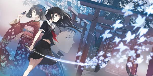 Tags: Anime, Tiv, Shrine, Original, Facebook Cover, Scan, Hane no Naki Chou, CD (Source), Pixiv